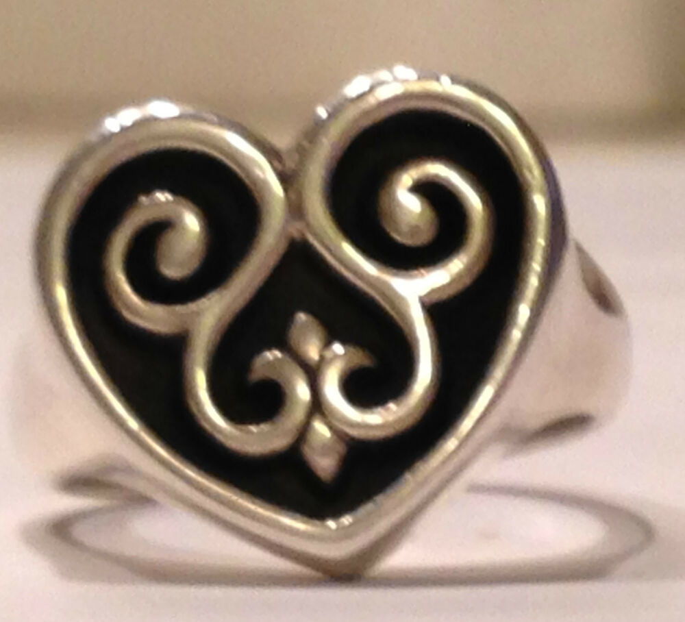 RETIRED JAMES AVERY ~SCROLLED FRENCH HEART RING~ 5¼ ...