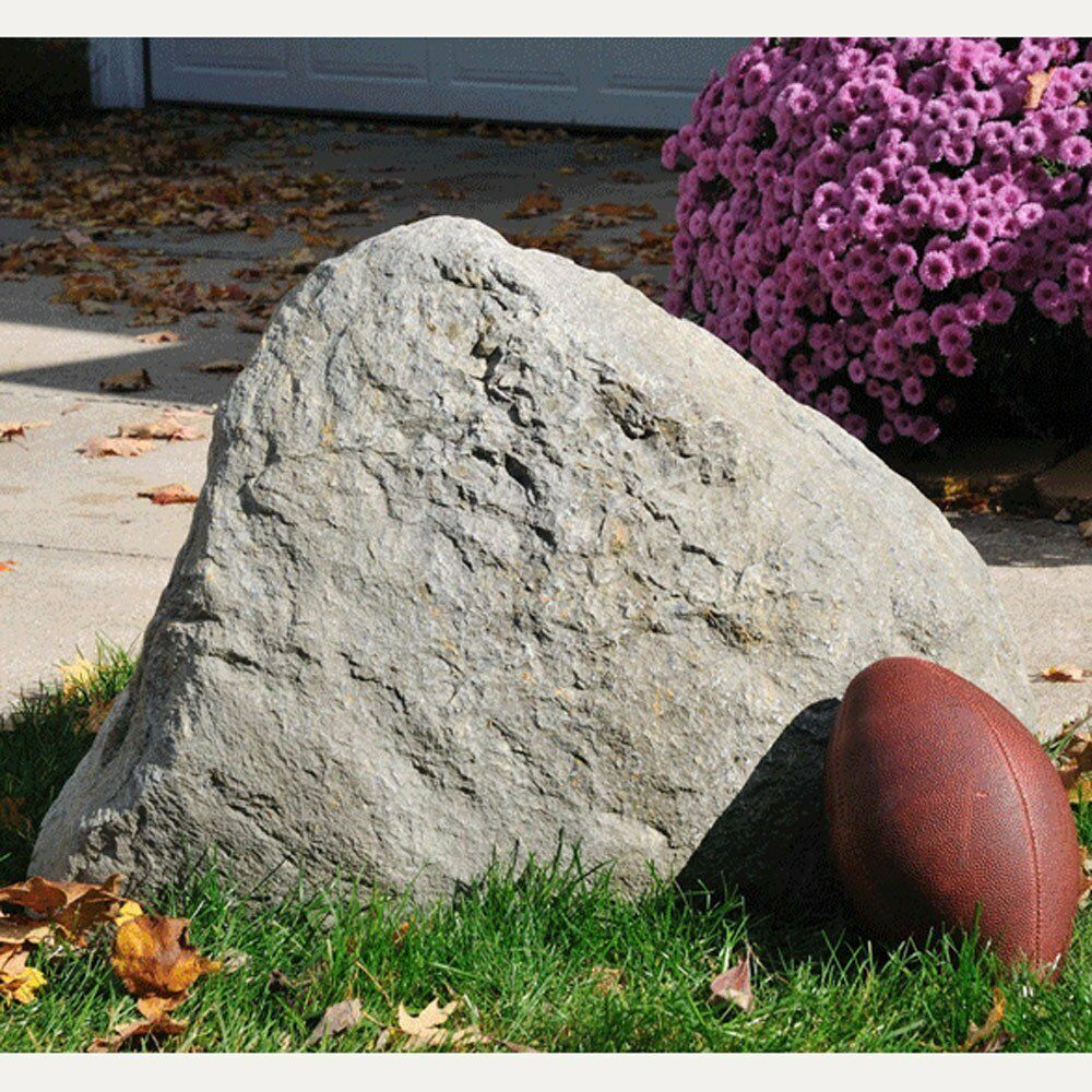 Faux rock rocks jumbo outdoor garden landscaping landscape for Decorative boulders for yard