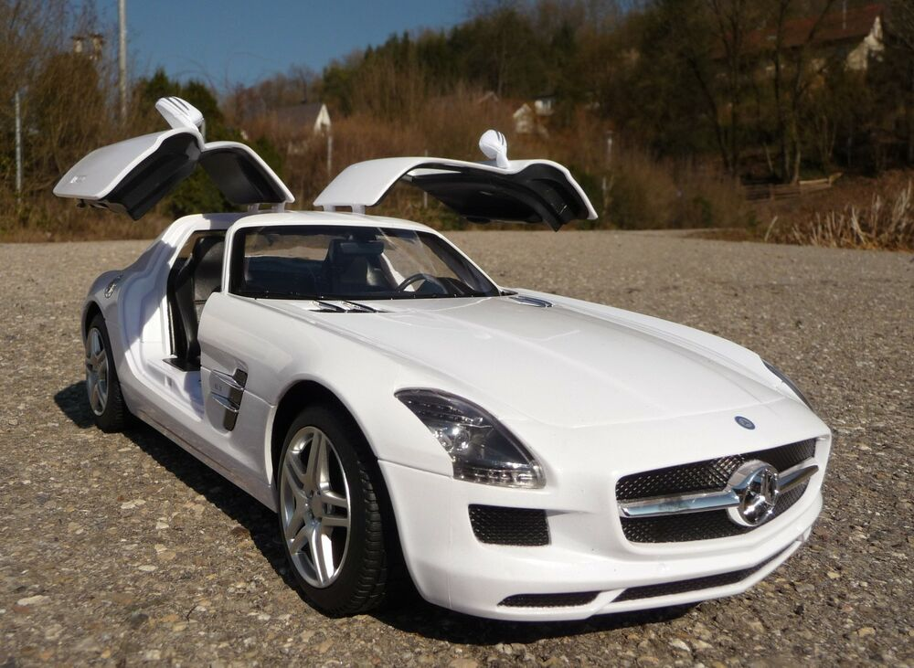 rc modell mercedes benz sls amg 1 14 mit fl gelt ren 32cm. Black Bedroom Furniture Sets. Home Design Ideas