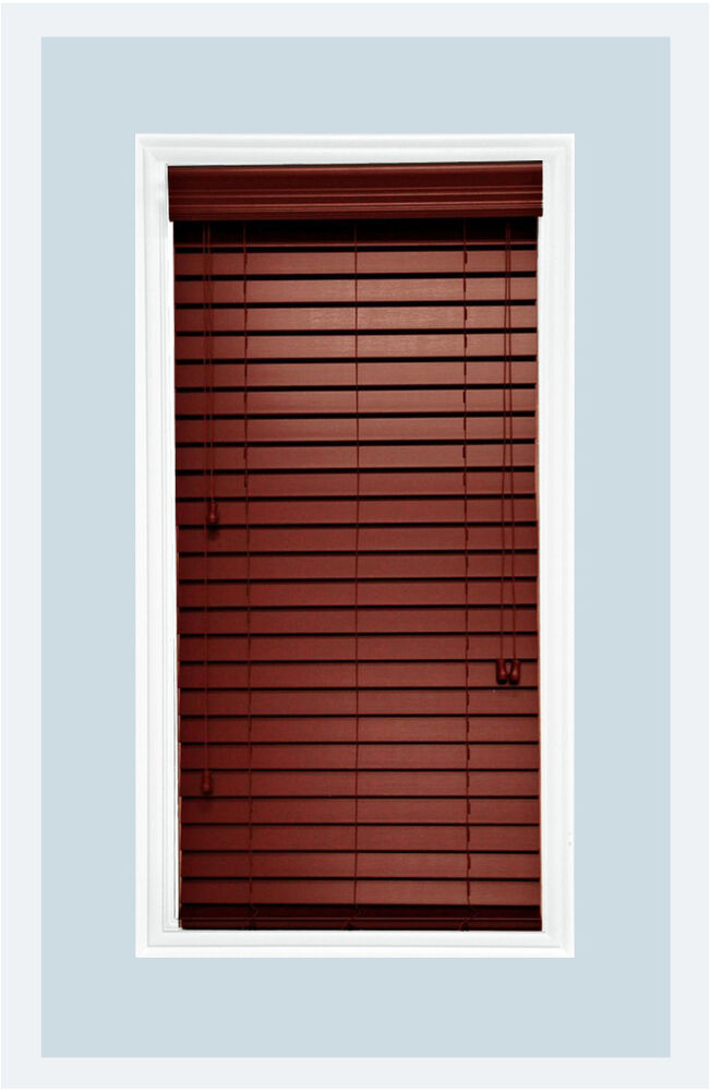 Http Www Ebay Com Itm Custom Cut To Size 2 Faux Wood Horizontal Window Blind Mahogany Inside Mount 111813450253