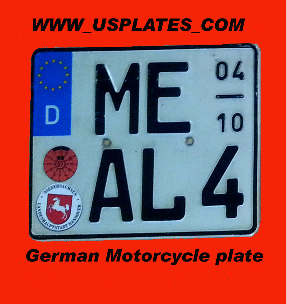 1 Real Authentic Original German Motorcycle License Plate