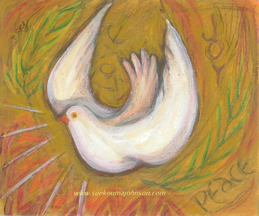 Holy Spirit Dove 11 X 14 Catholic Art Archival Print