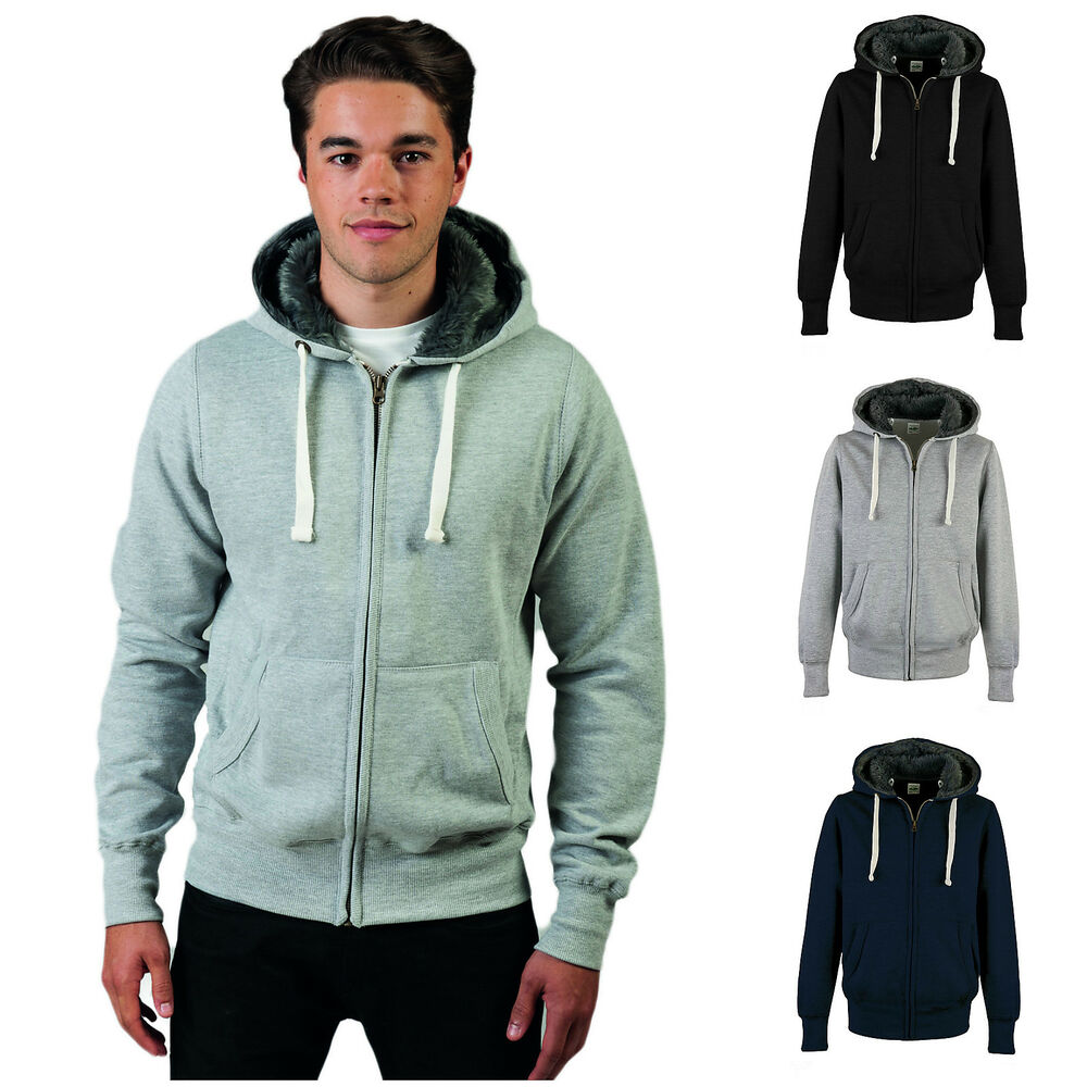 Mens lined hoodies