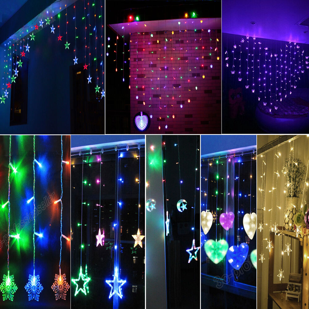 Fairy pendants hanging led string curtain light christmas Hanging christmas lights