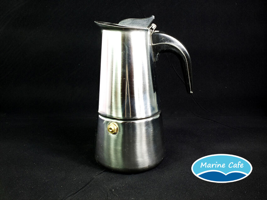 Italian Coffee Maker Stainless Steel : Italian Espresso Coffee Maker Stainless Steel Moka Pot 4 Cup eBay