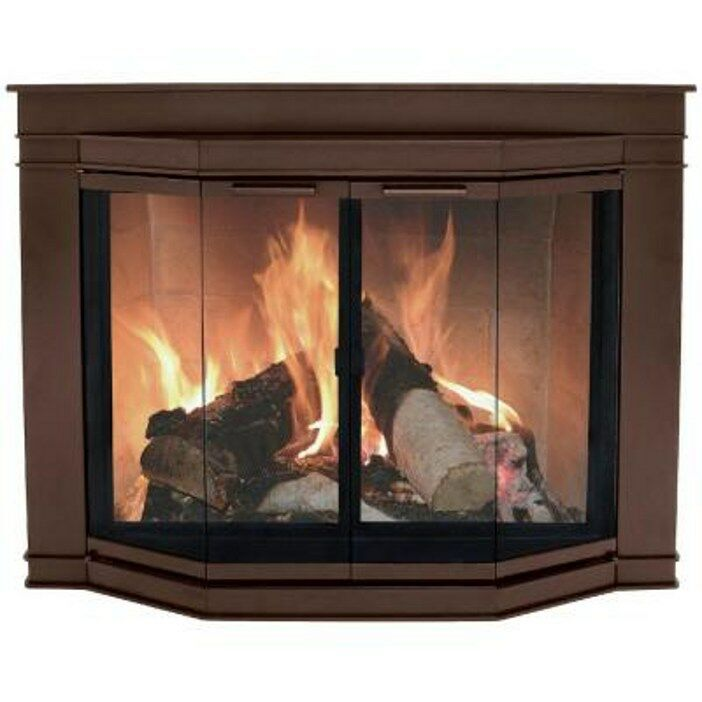 Pleasant Hearth Oil Rubbed Bronze Fireplace Door Glacier Bay Large Gl 7702 New Ebay