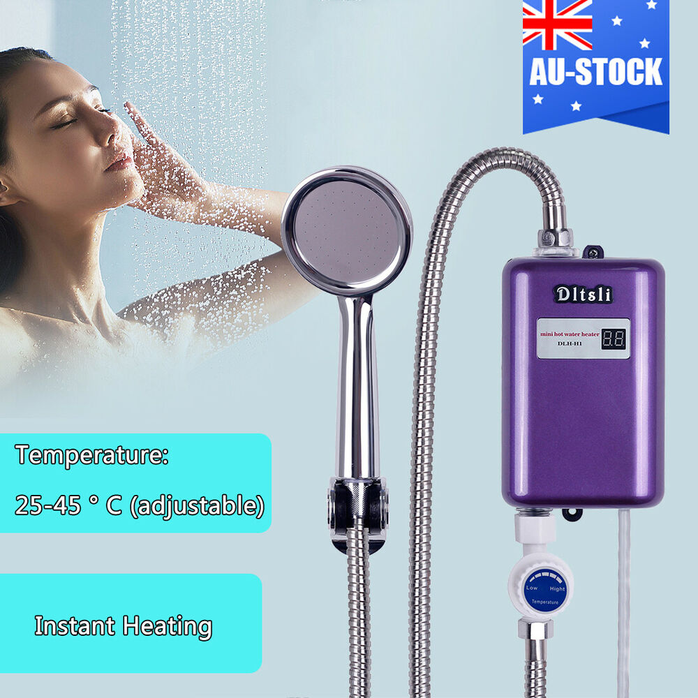 Instant electric water heater bathroom bath shower set tankless hot water system ebay - Shower water heater ...
