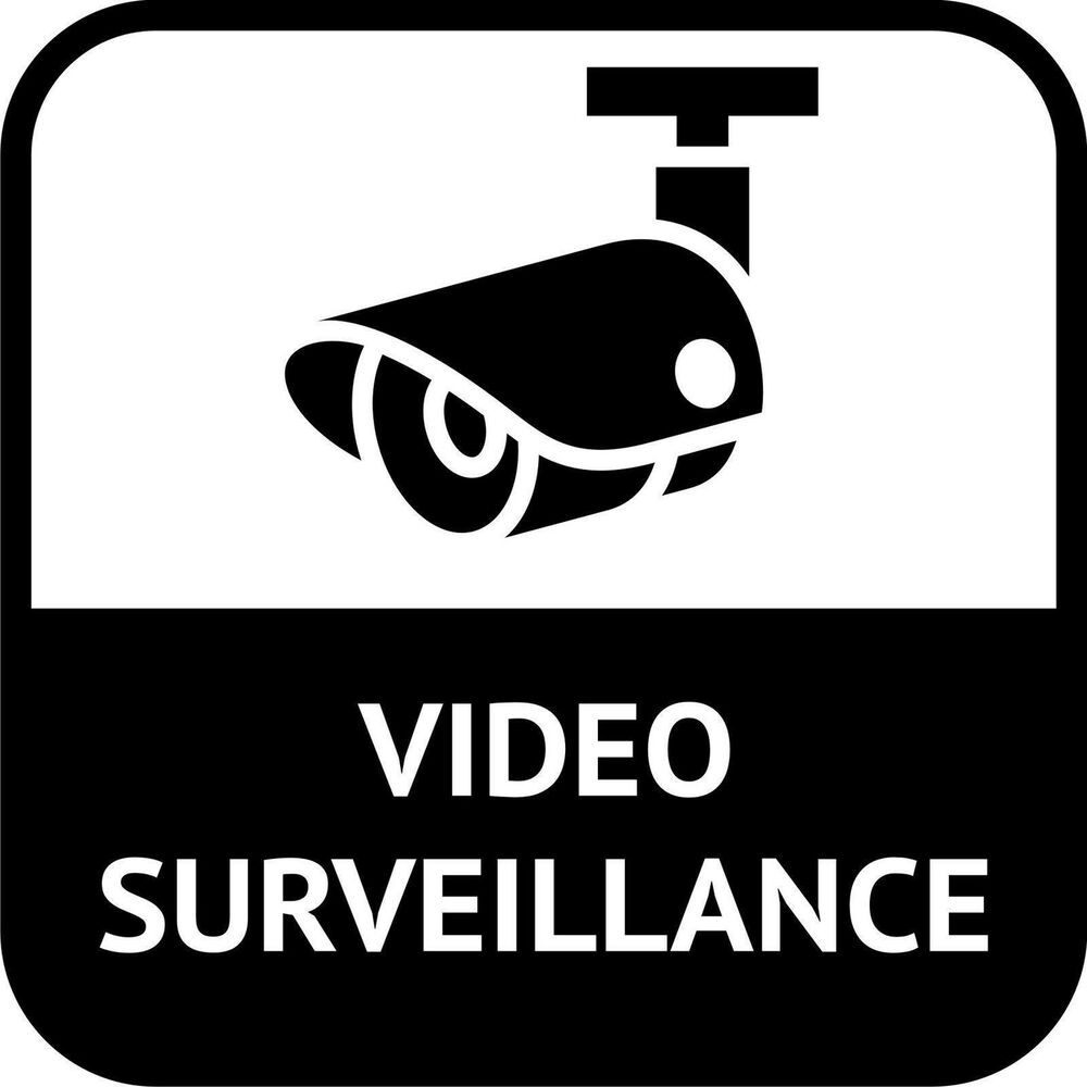 cctv video surveillance in operation sticker decal graphic vinyl label ebay. Black Bedroom Furniture Sets. Home Design Ideas
