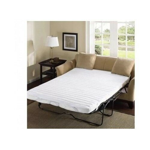 Sleeper Sofa Bed Pad Queen Size White Pull Out Mattress