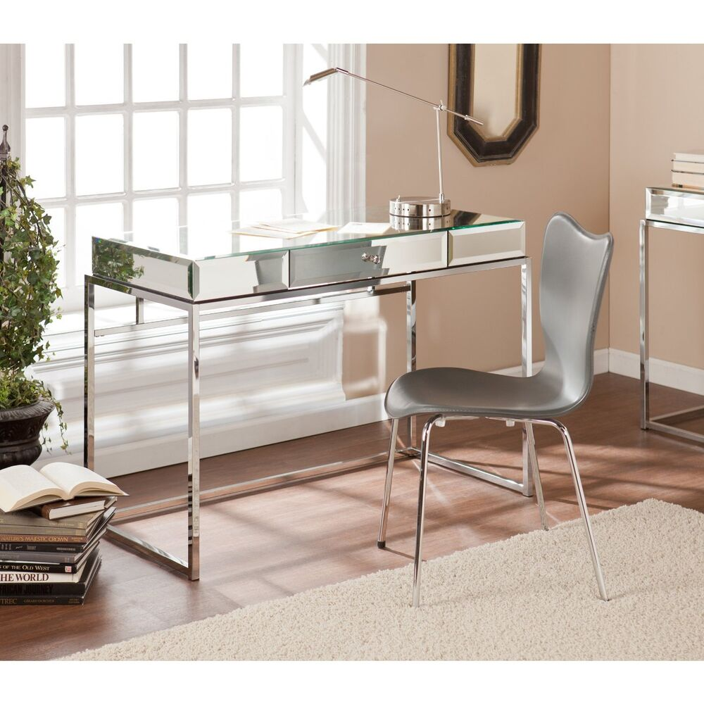 Southern Enterprises Dana Mirrored Desk With Drawer Ho9274