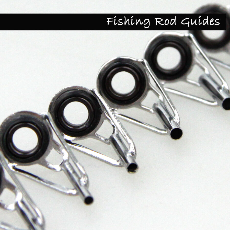 fishing rod parts tip tops silver stainless repair guides