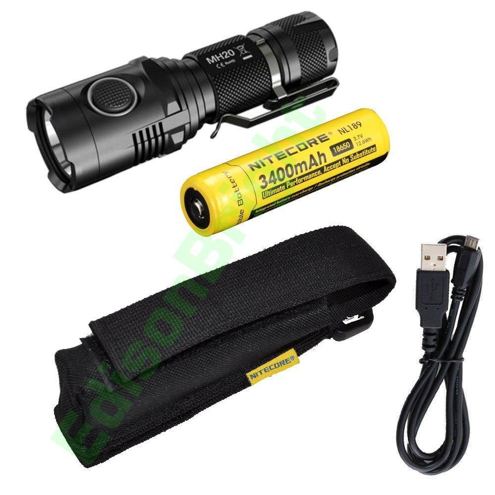 nitecore mh20 cree led 1000 lumen usb rechargeable flashlight with 18650 nl189 ebay. Black Bedroom Furniture Sets. Home Design Ideas