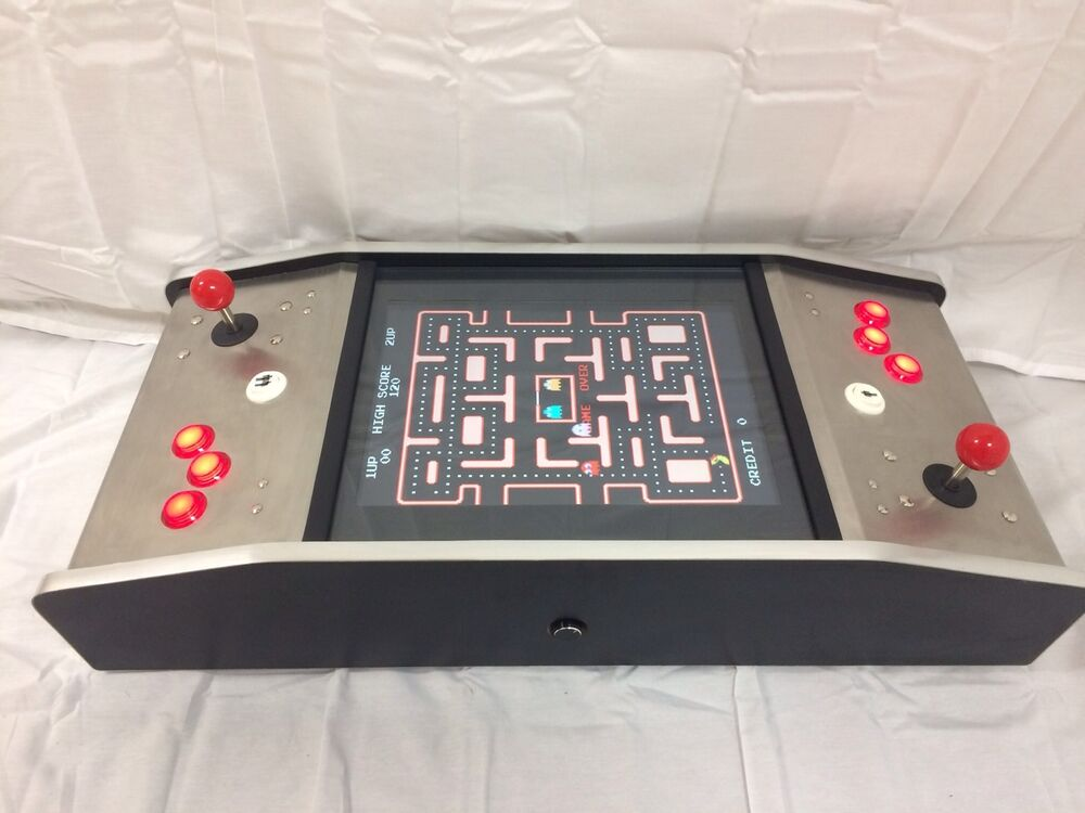 Ms pacman galaga mini cocktail table arcade game multicade for 10 games in 1 table