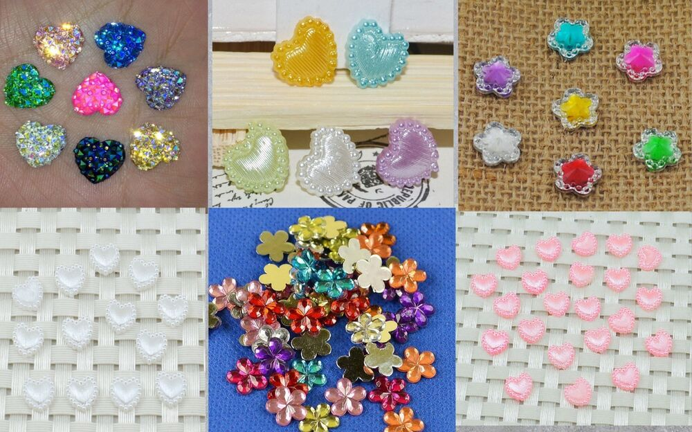Craft acrylic heart gems star gems flower gems heart for Plastic gems for crafts