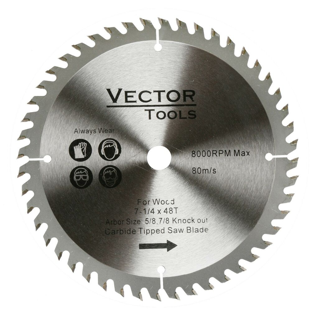 Saw Blade C4 Carbide Tipped 7 1 4 Quot Inch 48 Teeth W 5 8