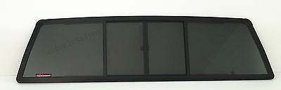 Rear Back Window Glass 4 Panel Slider For 84-88 Toyota Pickup 2-DR Extended Cab