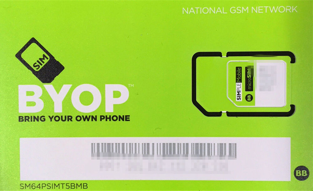 simple mobile preloaded sim card 40 1st month free