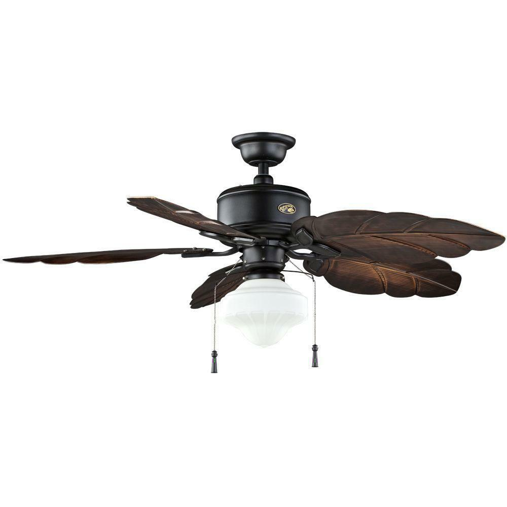 Hampton Bay Nassau 52 In Natural Iron Indoor Outdoor Ceiling Fan Ebay
