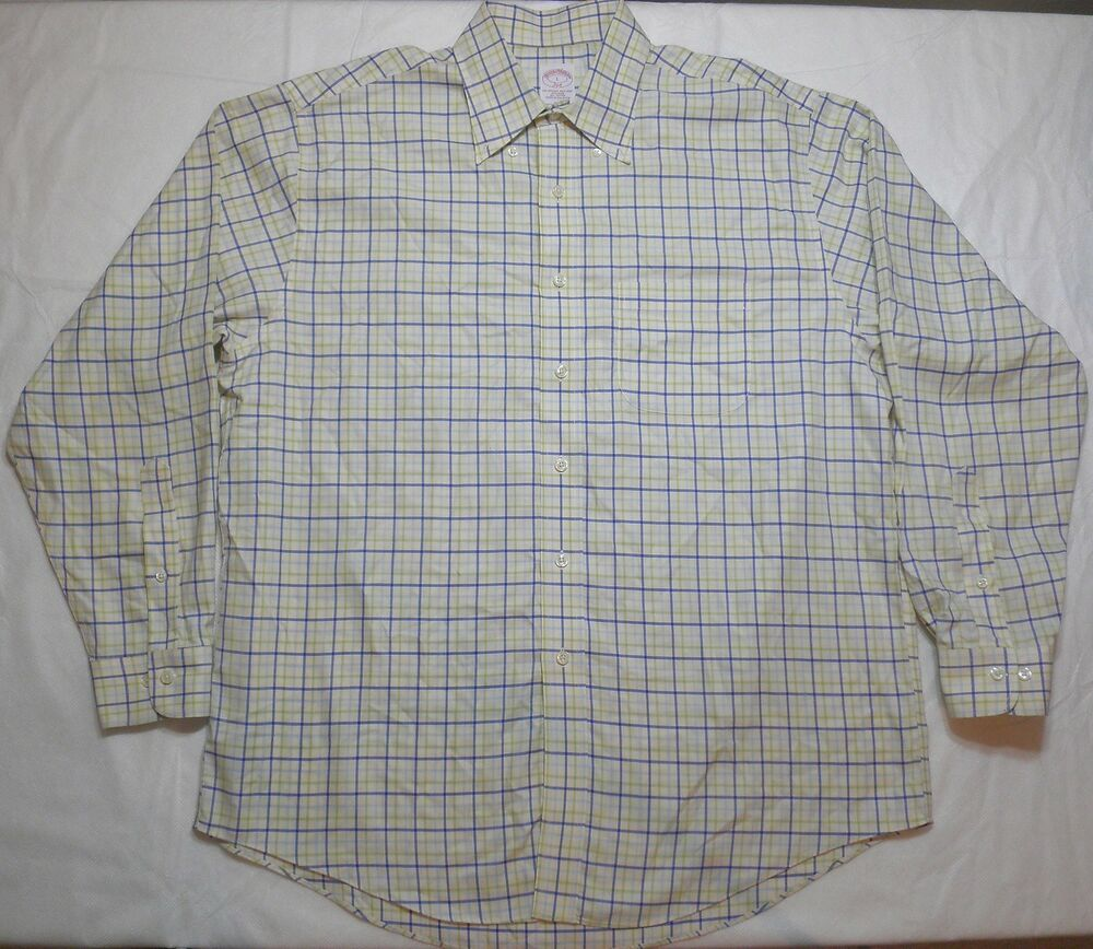 Men 39 S Brooks Brothers Plaid Pattern Button Down Dress