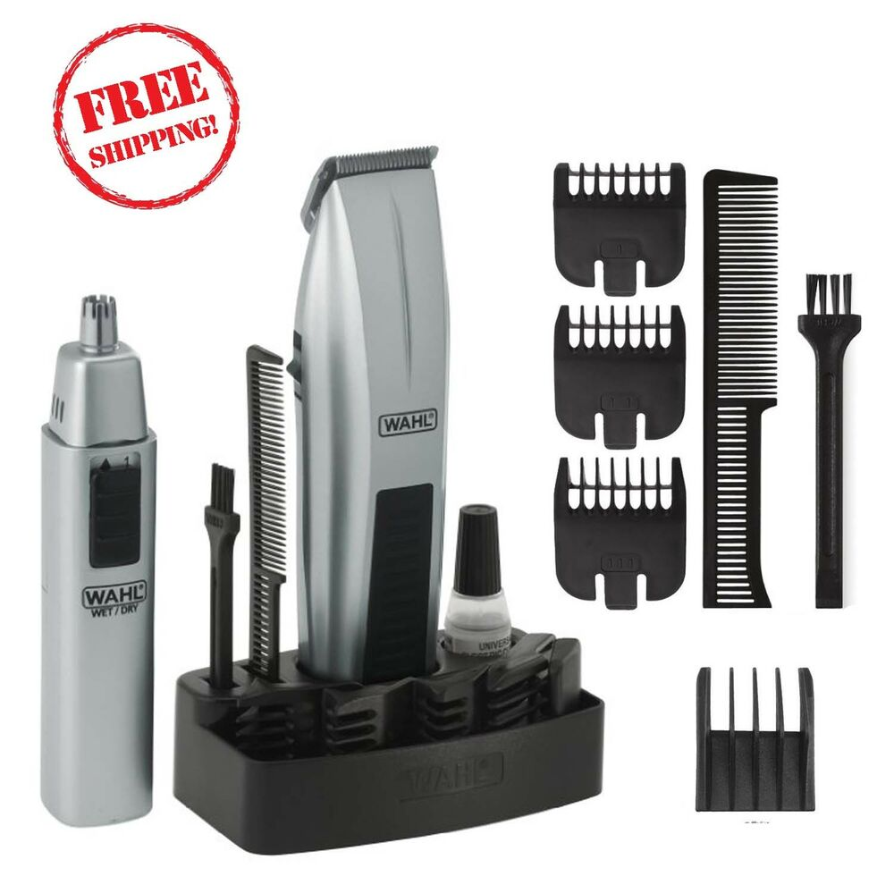 wahl mustache beard trimmer shaver set clipper hair cut groomer ear nose brow ebay. Black Bedroom Furniture Sets. Home Design Ideas