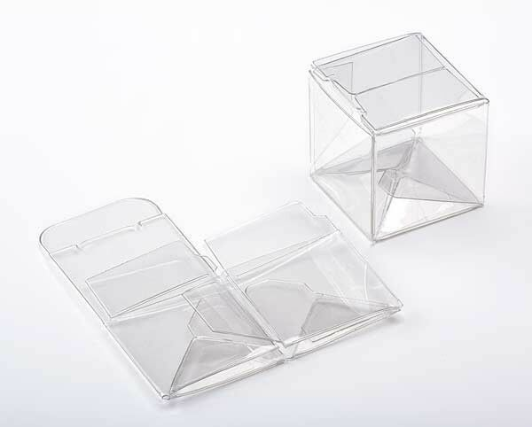 25 clear plastic mini cube boxes  1 1  2 x 1 1  2 x 1 1  2