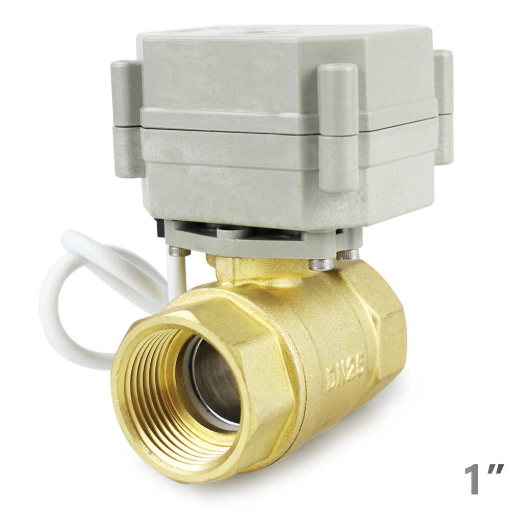 hsh flo 1 dn25 2 way brass motorized ball valve 1 inch