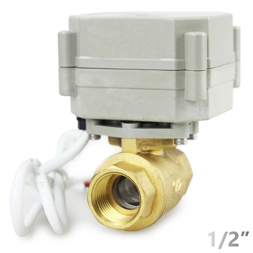Hsh flo 1 2 dn15 2 way brass motorized ball valve 1 2 for 1 motorized ball valve