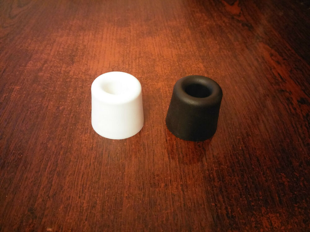 Black or white rubber door stop stopper floor holder ebay - Door stoppers rubber ...