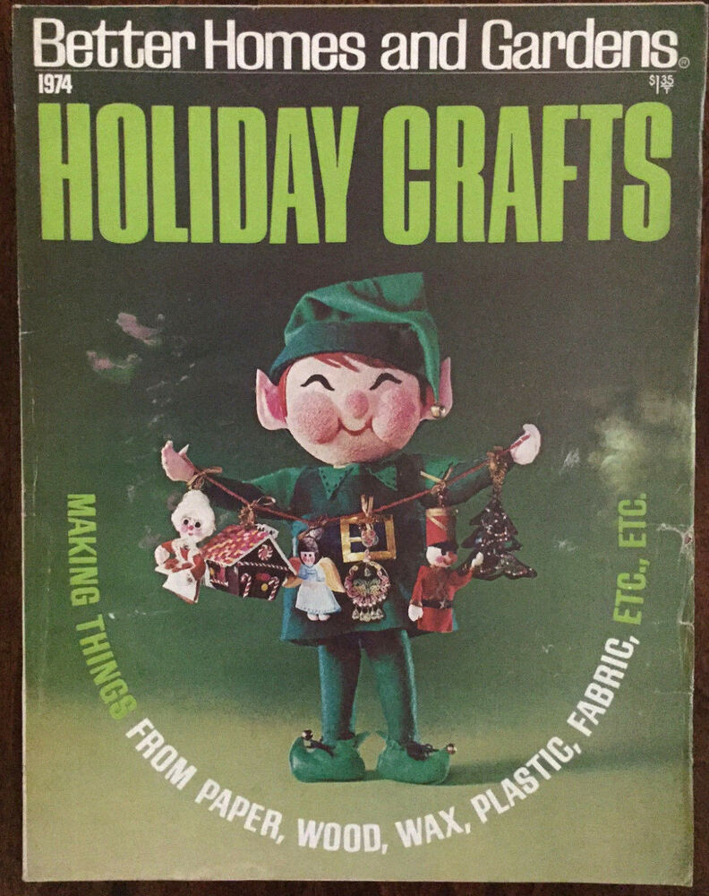 Better Homes And Gardens Holiday Crafts 1974 Cards