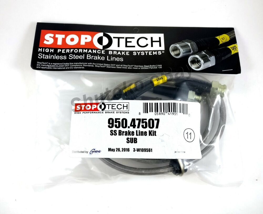 Auto Parts Brake Lines : Stoptech stainless steel rear brake lines for subaru