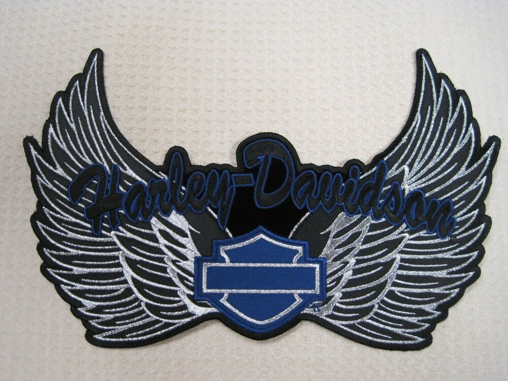harley davidson motorcycle lady rider 2xl xxl wing patch. Black Bedroom Furniture Sets. Home Design Ideas