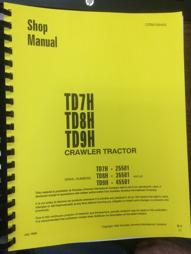 Dresser Td7h operator Manual Download