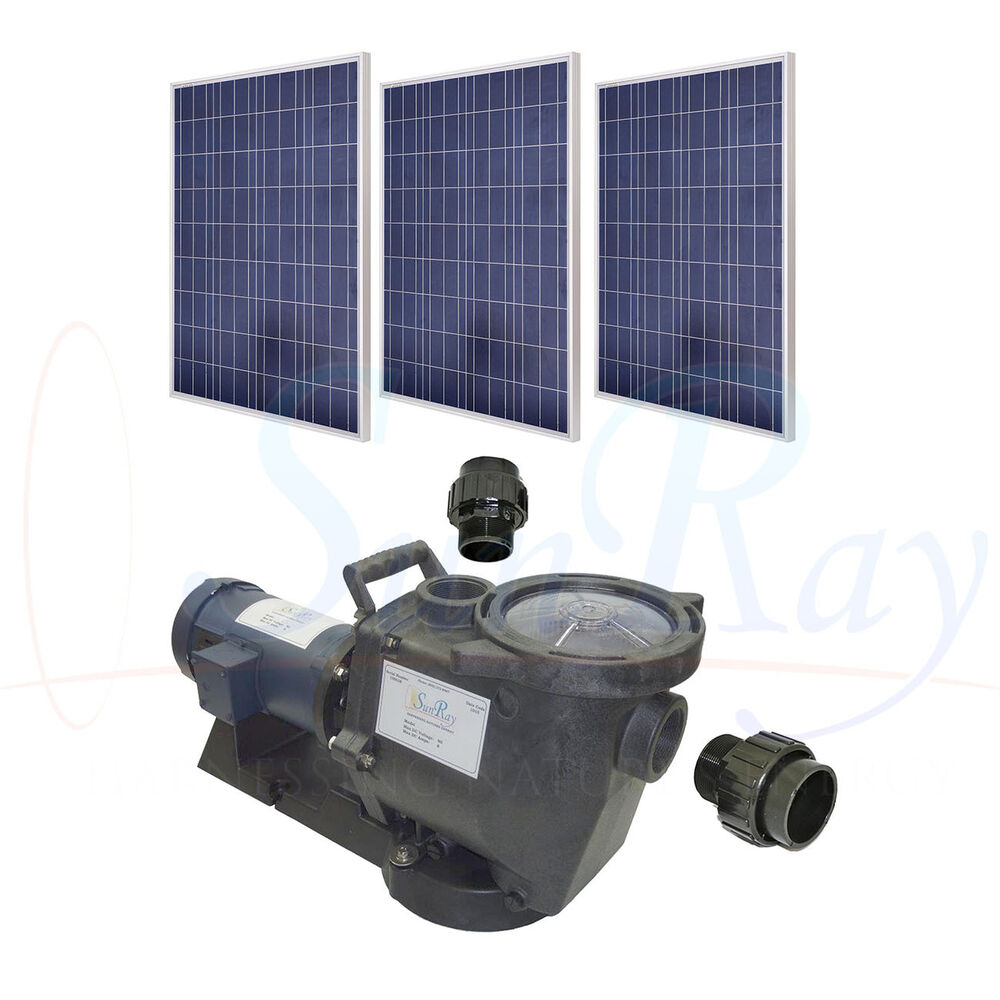 Solar Powered Pool Pump Solflo1 With 3 Solar Panels 1hp Dc
