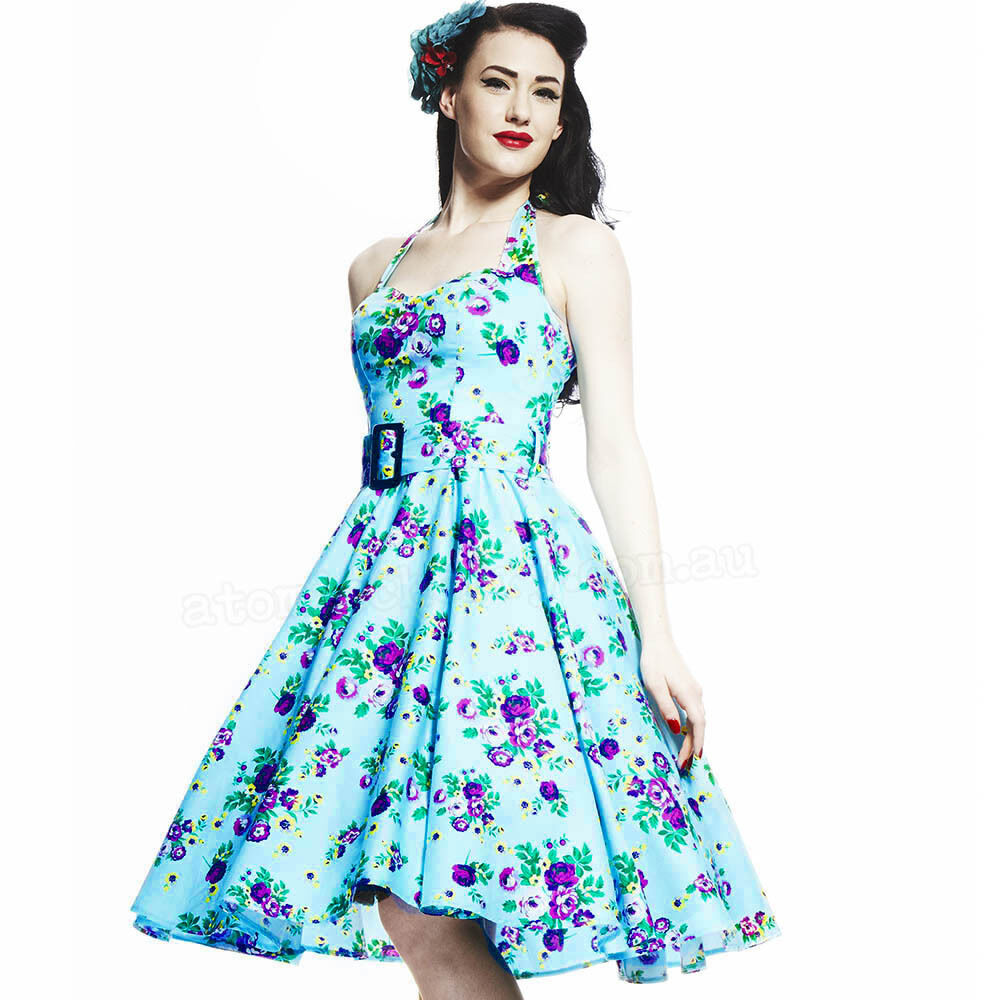 2e887a5b2d52 Hell Bunny May Day Floral 50s Dress Rockabilly Pin Up ..