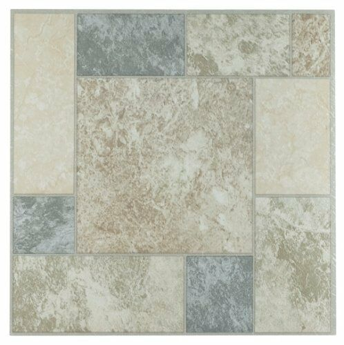 Plastic Floor: Achim 12 In X 12 In Nexus Marble Blocks Self Vinyl Geo