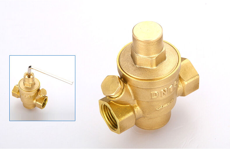 hsh flo brass adjustable water pressure regulator pressure maintaining valve ebay. Black Bedroom Furniture Sets. Home Design Ideas