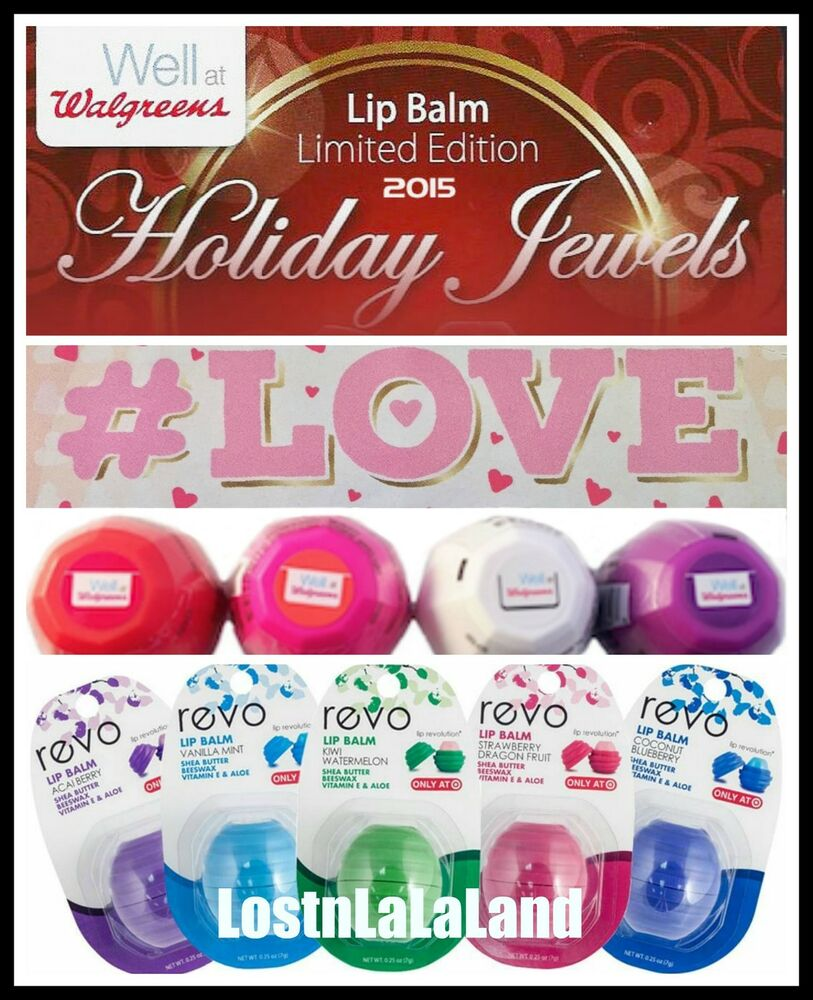 Walgreens Lip Balm Valentines Day Cupids Cherry Cordial 2016, By Revo Ship from US Fresh - Rice Dry Oil -100ml/3.3oz