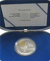 """CANADA SILVER 20 DOLLARS TRANSPORTATION 1994, """"THE CURTIS"""" PROOF"""
