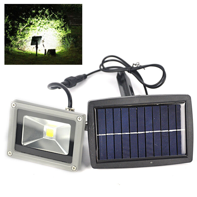 Outdoor 10W Solar Powered LED Mount Flood Light Home