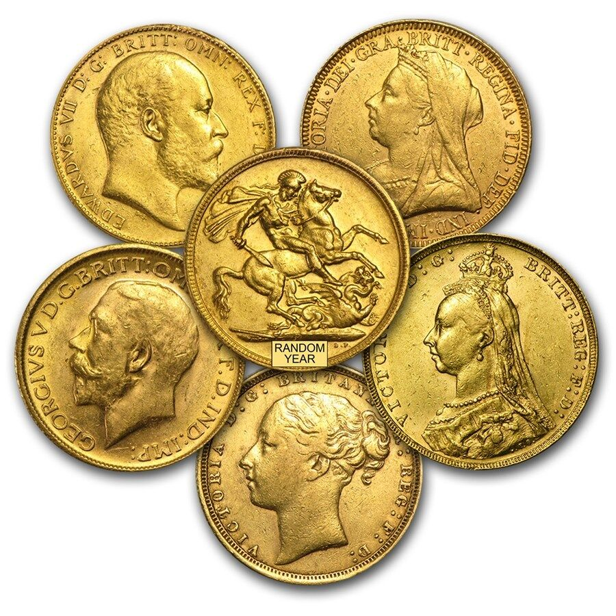 Great Britain Gold Sovereign Avg Circ Random Sku 17