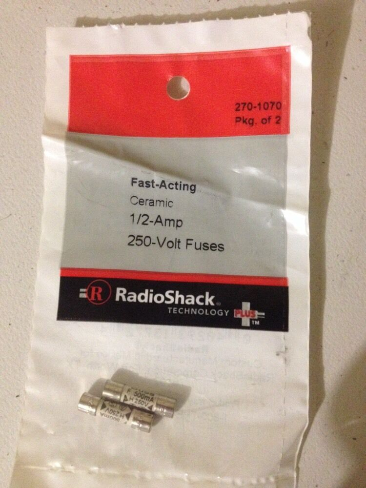 0 5a 250v Fast Acting 5x20mm Ceramic Fuses 2 Pack Radio