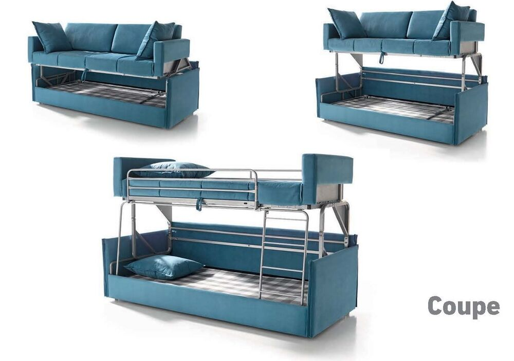 coupe sofa sleeper bunk bed convertable modern contemporary futon made in spain ebay. Black Bedroom Furniture Sets. Home Design Ideas