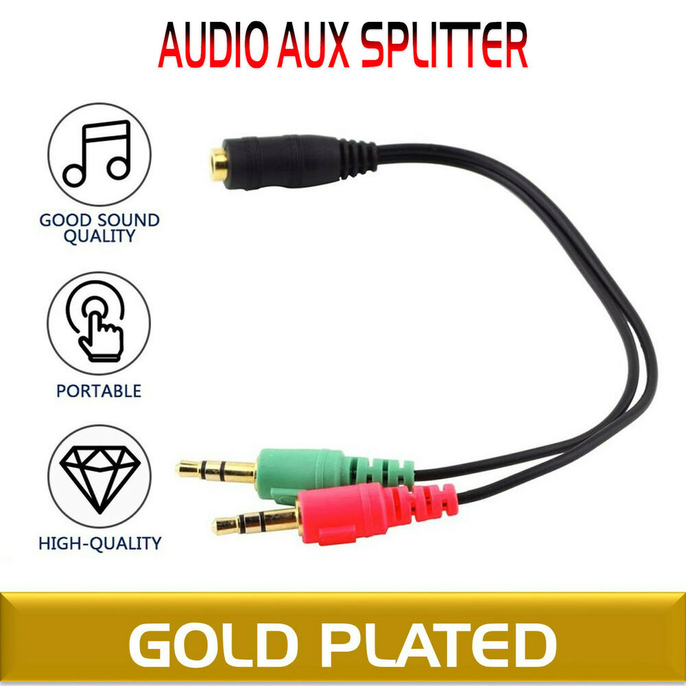 Treu Aux Splitter Für 3.5mm Audio Iphone Audiosplitter Y-adapter 100% Garantie Kabel & Steckverbinder