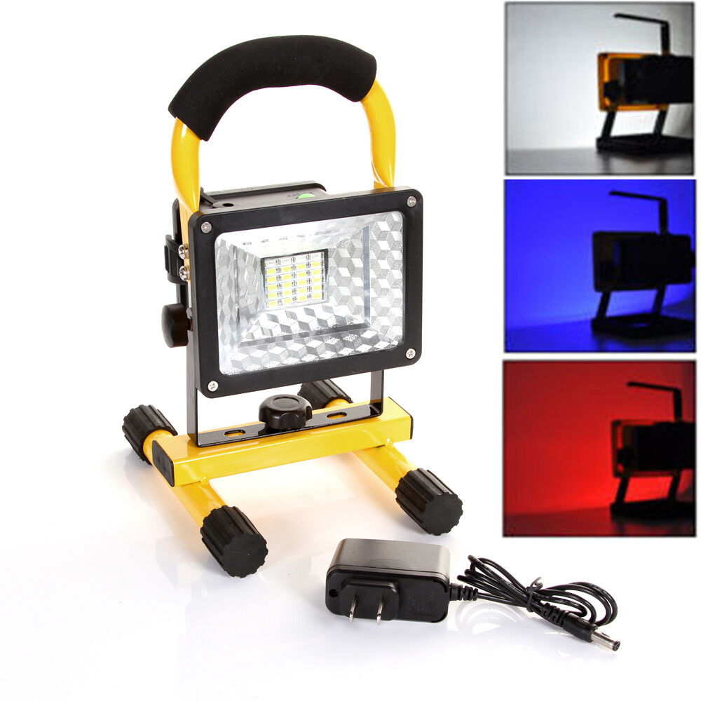 portable cordless work light rechargeable led flood spot shop camp hiking lamp ebay. Black Bedroom Furniture Sets. Home Design Ideas