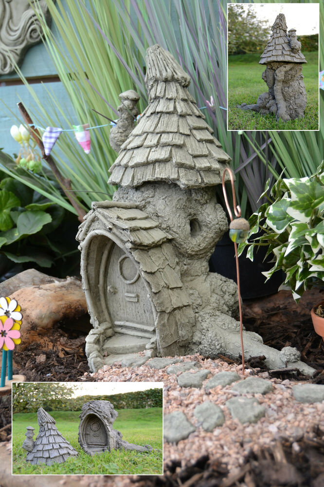 fairy garden garden ornament fairy house stone knock knot. Black Bedroom Furniture Sets. Home Design Ideas