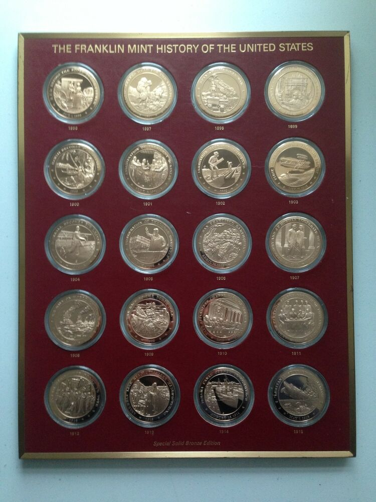 History Of The United States Franklin Mint Solid Bronze Edition Coin Collection Ebay