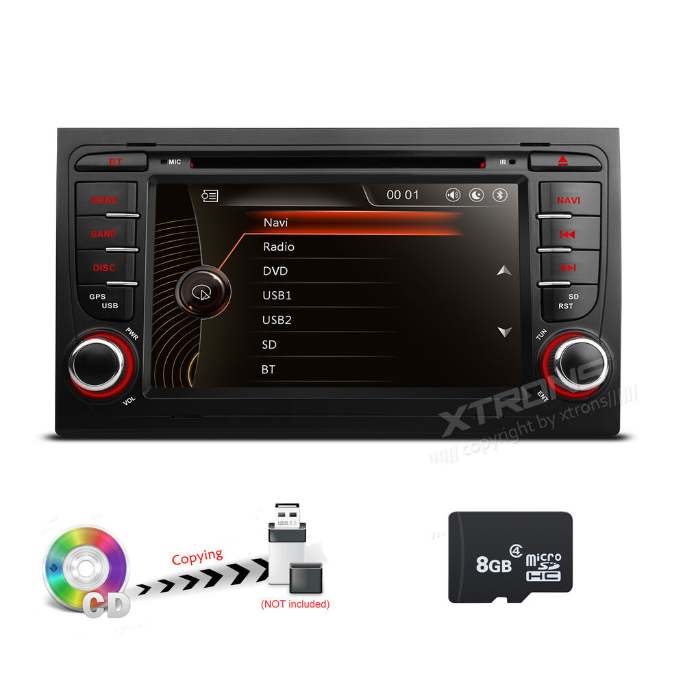 auto dvd gps navigation stereo radio stereo for audi a4 b6. Black Bedroom Furniture Sets. Home Design Ideas
