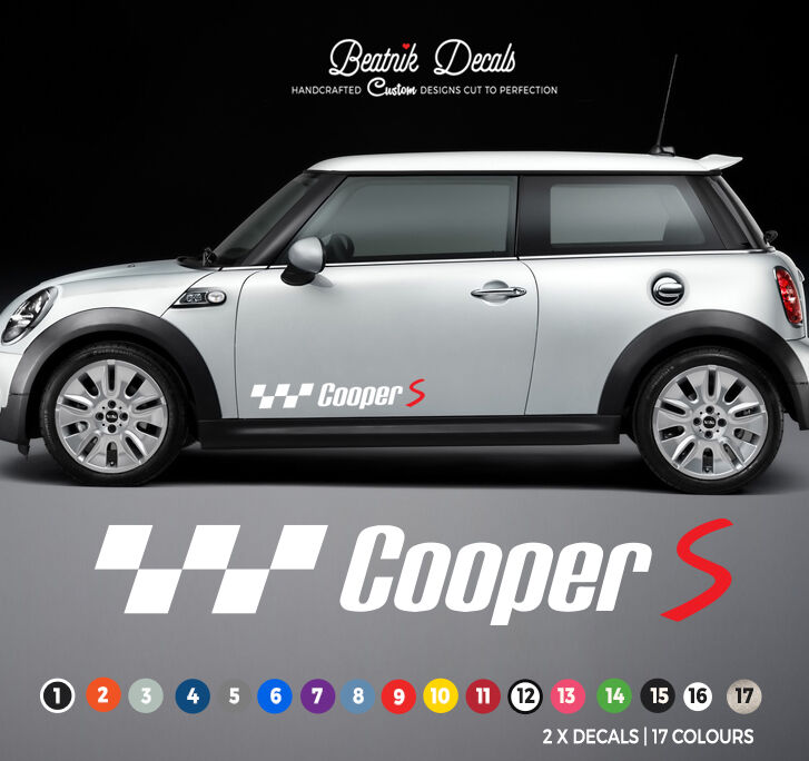 OEM QUALITY MINI DECALS Cooper S Side Stripes Stickers