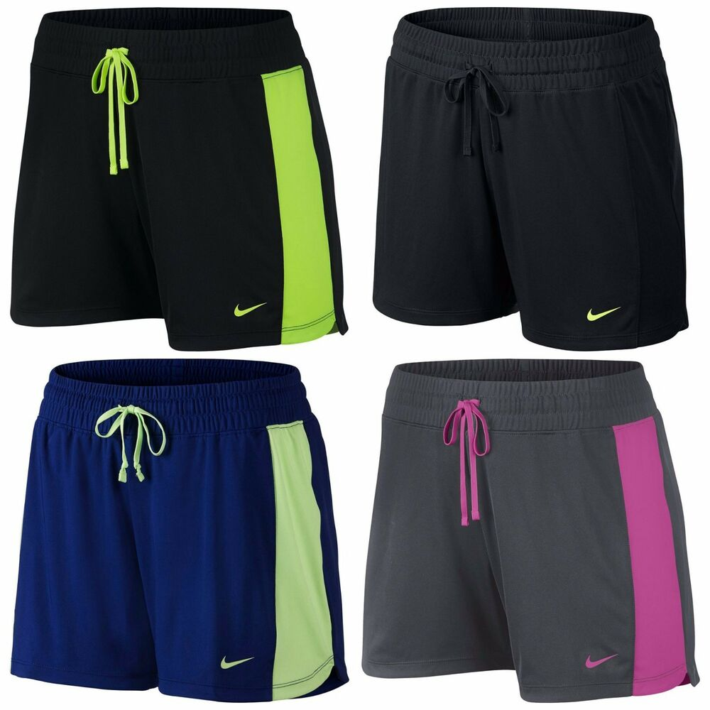 nike dri fit knit workout shorts women 39 s varies ebay. Black Bedroom Furniture Sets. Home Design Ideas