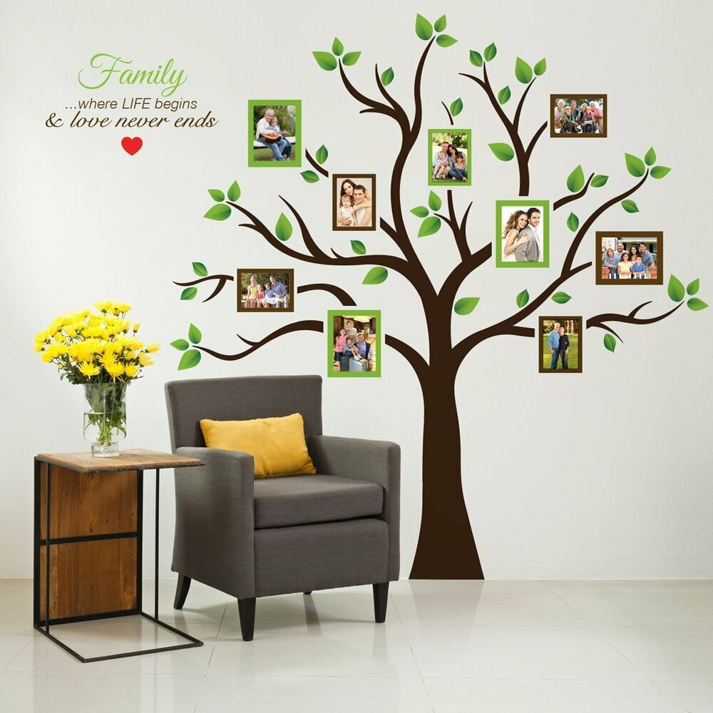 Wall Photo Tree Family Frame Large Decor Sticker Art Home